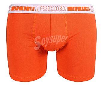 JOMA Pack de 2 calzoncillos bóxer de algodón, color negro/naranja, talla L 2u