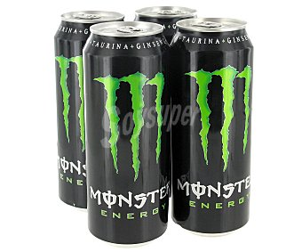Monster Energy Bebida energética  Pack 4 u x 50 cl