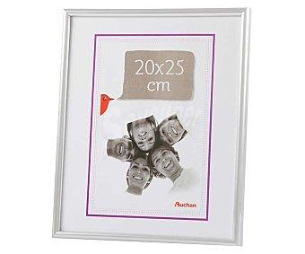 PRODUCTO ALCAMPO 58 Marco de plástico, color plata. Colección Universal. 20x25 cm, para pared y sobremesa alcampo