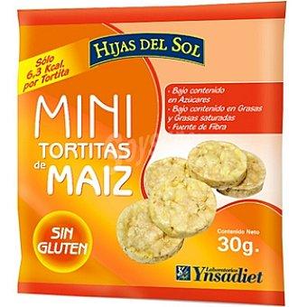 Hijas del Sol mini tortitas de maíz sin gluten  envase 30 g