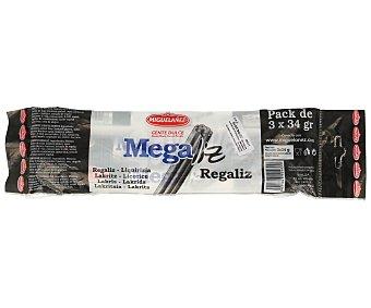 Miguelañez Megaliz negro 3 unidades (102 g )