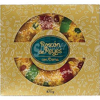 El Corte Inglés Roscón de Reyes relleno de crema pieza 875 g