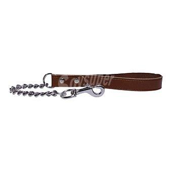 San Dimas Ramal de cuero con cadena para perros medidas 40x580 mm 1 unidad