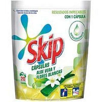 Skip Detergente líquido en cápsulas aloe Bolsa 20 dosis