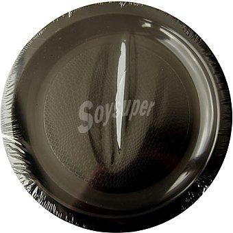 NV CORPORACION Plato negro 18,5 cm apto para microondas Paquete 6 unidades