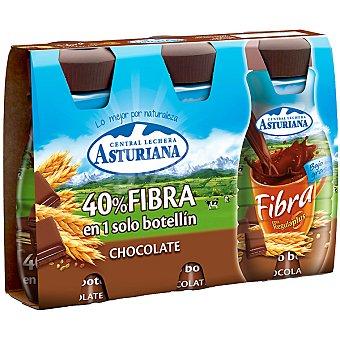 ASTURIANA Natur Fibra Leche desnatada con chocolate pack 3 envase 200 ml Pack 3 envase 200 ml