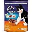 Comida para gatos seca con pollo, pavo y verduras crunchy&soft 950 g Purina Felix