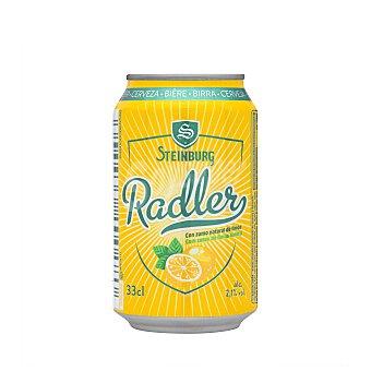 Steinburg Cerveza radler con zumo natural de limon Lata 330 ml