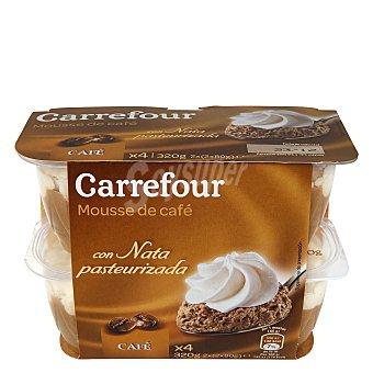 Carrefour Copa mousse café con nata Pack 4x80 g