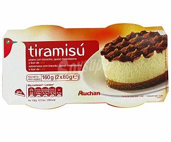 Auchan Tiramisú 2 Unidades de 80 Gramos
