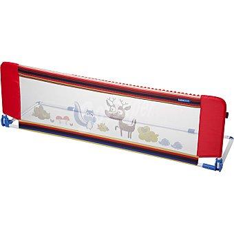BEBE DUE Barrera de seguridad para cama con dibujo de animales en color rojo