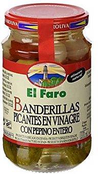 El Faro Banderillas picantes en vinagre Frasco 160 g