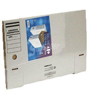 Carrefour PAQ.4 cajas de archivo definitivo Fº plegadas Pack de 4 unidades