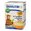 papilla de 8 cereales con galleta maría, con gluten y sin grumos desde los 6 meses con (FOS) Fructo Oligo Sacáridos caja 600 g Sanutri