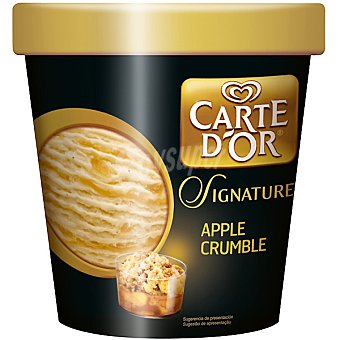 Frigo Carte D'Or Helado de vainilla con crocante y cobertura de manzana Signature Apple Crumble Tarrina 450 ml