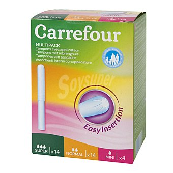 Carrefour Tampón con aplicador multipack 32 ud
