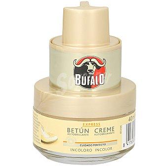 BUFALO limpia calzado crema 2 en 1 incoloro con aplicador tarro 50 ml