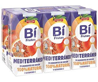 Bifrutas Pascual Leche con zumo de frutas mediterraneas 6 x 200 ml