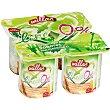 Yogur desnatado de papaya y mango  Tarrina 125 g Millac