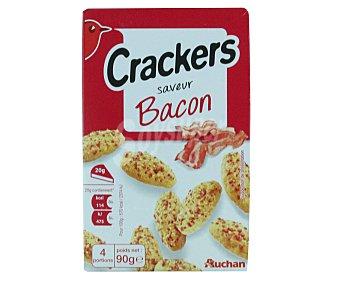 Auchan Galletas saladas con sabor a bacon Caja de 90 gramos