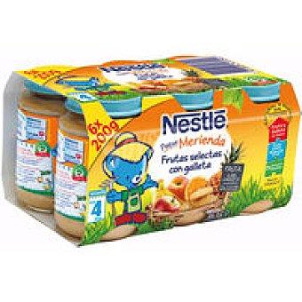 Nestlé Tarrito fruta selecta galleta pack6 x200gr