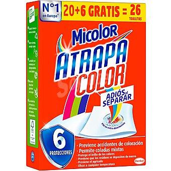 Micolor Toallitas atrapa color adios al separar caja 20 unidades 20 unidades