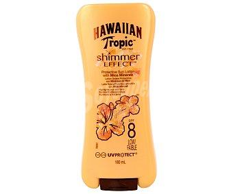 Hawaiian Tropic Protector solar con efecto brillo y factor protección 8 (bajo) 180 mililitros