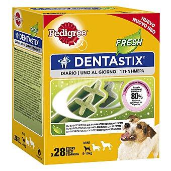 Pedigree Dentastix Snack para perros mini y pequeños para un aliento fresco  Caja 28 unidades