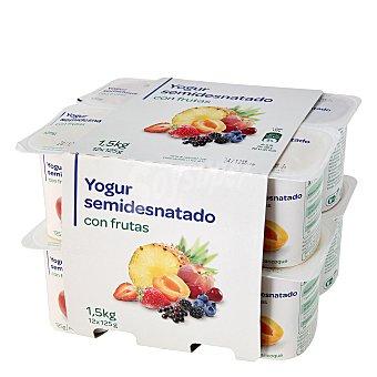 Carrefour Yogur con frutas Pack 12x125 g