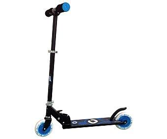 CUP´S Patinete Plegable Infantil, Color Negro y Azul 1 Unidad