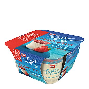 Muller Yogur griego light con fresa Pack 4x130 g