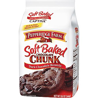 PEPPERIDGE FARM Chocolate Chunk Galletas de chocolate negro con brownie Paquete 220 g