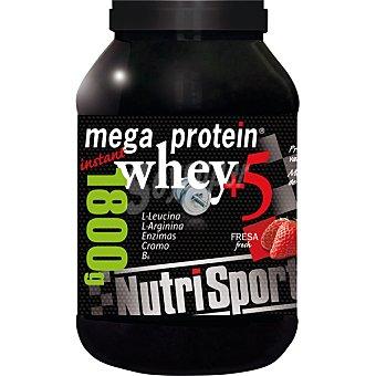NUTRISPORT Mega Protein Whey +5 complementos sabor fresa  Bote de 1800 g