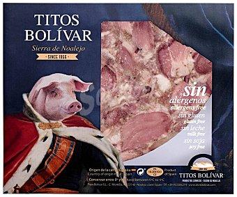 TITOS BOLÍVAR Queso de cerdo cortado en porciones y envasado al vacio 400 g