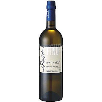 EL RECTOR Vino fino D.O. Montilla Moriles elaborado para grupo El Corte Inglés Botella 75 cl
