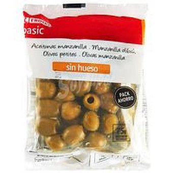 Eroski Basic Aceituna sin hueso Pack 3x75 g