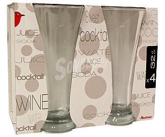 Auchan Vasos para cerveza/horchata modelo Pub, con capacidad de 31,7 cl 4 Unidades