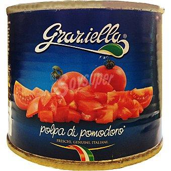GRACIELLA Tomate troceado Lata 220 g neto escurrido