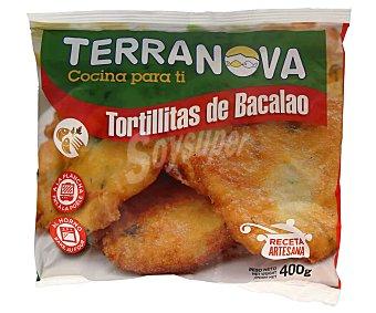 Terranova Tortillitas de bacalao elaboradas según receta artesana 400 g