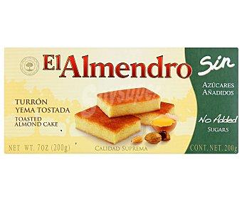 EL ALMENDRO Turrón de yema tostada sin azúcares añadidos 200 gramos