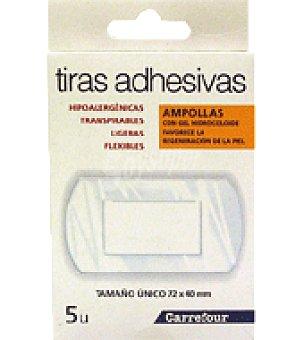 Carrefour Tiras adhesivas con Gel Hidrocoloide para ampollas Caja de 5 unidades