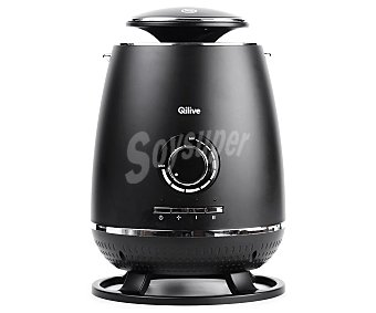 Qilive Calefactor cerámico Q.6262, salida de aire de 360ª, 1800w, 2 niveles de calor, termostato