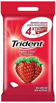 Trident Chicles de fresa en grageas Pack 4x14,5 g
