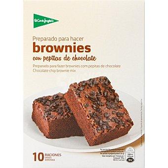 El Corte Inglés Preparado para hacer brownies con pepitas de chocolate 10 raciones estuche 375 g