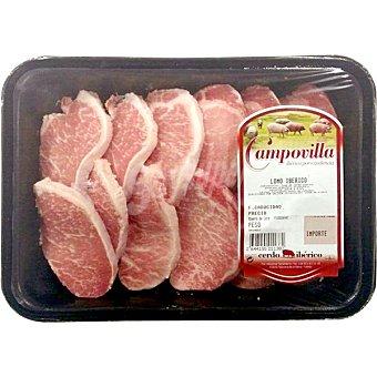 CAMPOVILLA Lomo fresco de cerdo ibérico en filetes peso aproximado Bandeja 475 g