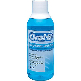 Oral-B Enjuague bucal anti-caries sin alcohol Frasco 500 ml