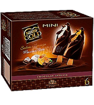 Nestlé Helado bombón mini gold nata y naranja Caja de 6 unidades