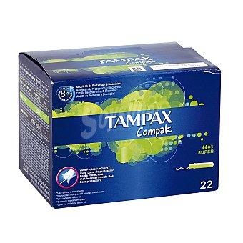 Tampax Compak tampón super Caja 22 uds