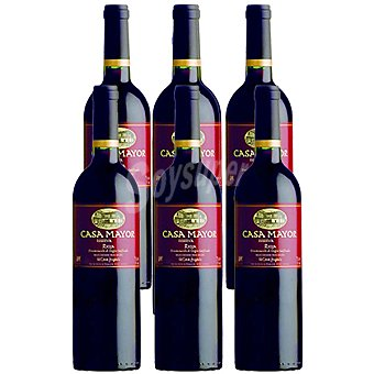 CasaMayor Vino tinto reserva D.O. Rioja elaborado para grupo El Corte Inglés caja 6 botellas 75 cc