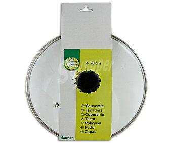 Productos Económicos Alcampo Tapa de cristal templado de 28 centímetros, con salida para vapor 1 Unidad